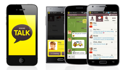 "KakaoTalk App.  Image from the <a href=""http://kakaotalk.en.softonic.com"">KakaoTalk App Page</a>"