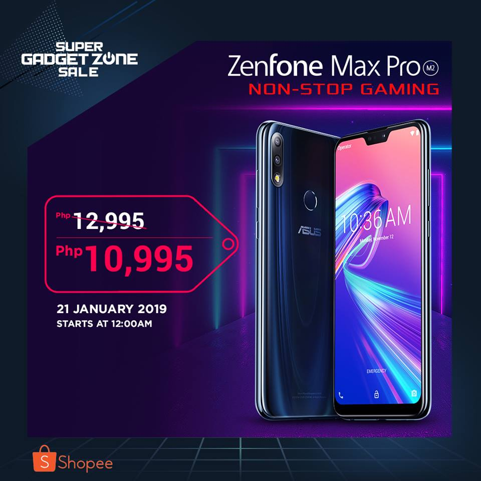 Zenfone Max Pro M2 on Sale January 2019