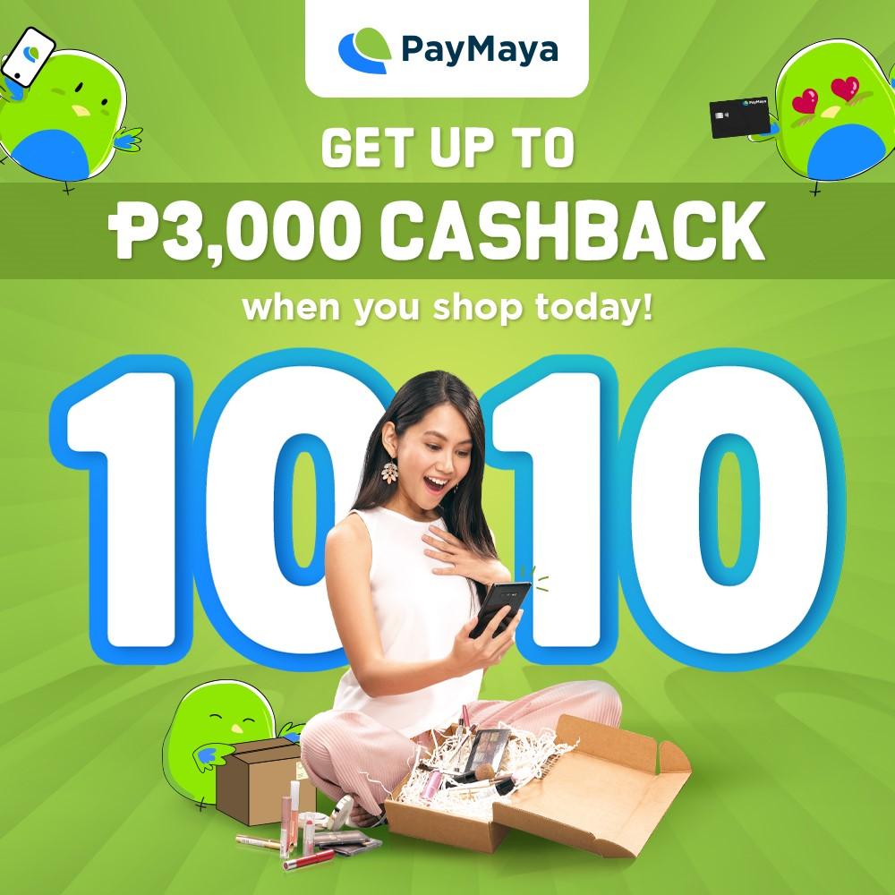 10.10 PayMaya Cashback