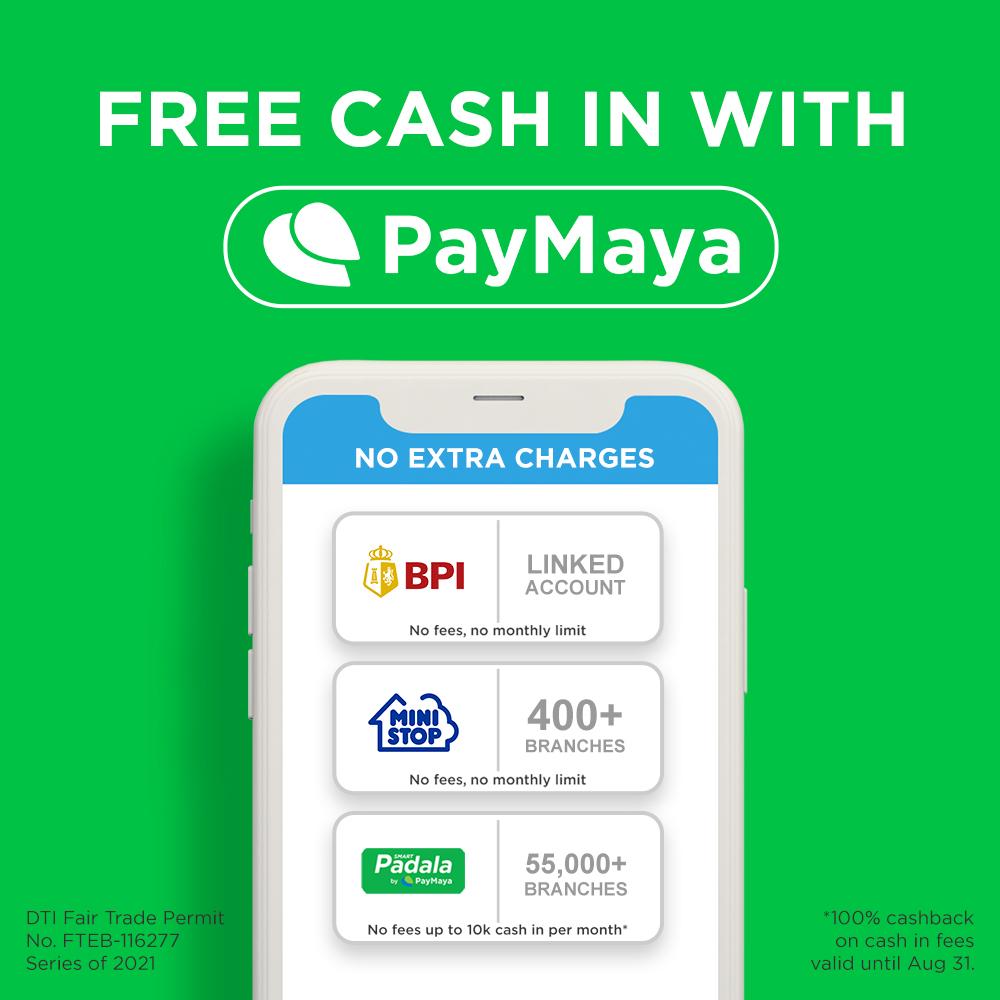 Free PayMaya Cash In