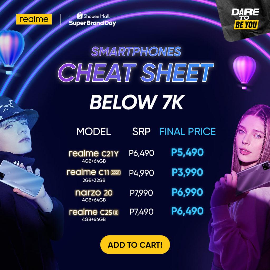 realme Super Brand Day Cheat Sheet